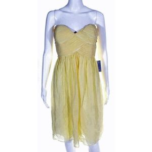 New Donna Morgan Yellow Cocktail Dress size 14